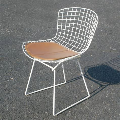 knoll style bertoia side chair seat cushion caramel ebay