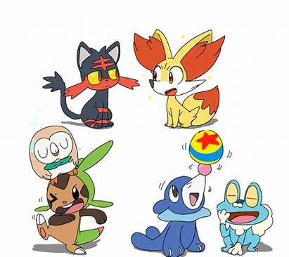 Pokemon Gen Starters Moon Sun Pikachu Meet