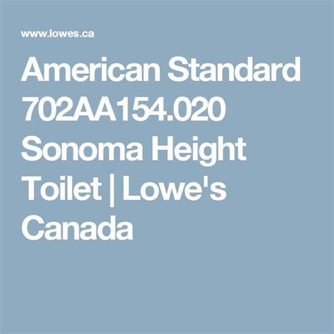 american standard 702aa154 020 sonoma height toilet lowe