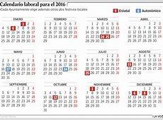 ¿Qué dias serán festivos en el 2016?