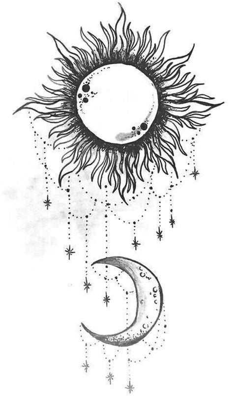 Sun and moon. I want this on my shoulder | Sun tattoos, Moon tattoo designs, Star tattoos