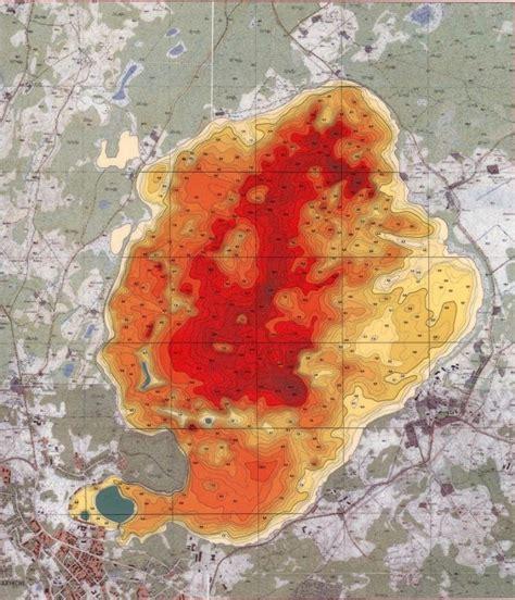 Alūksnes ezera detālā dziļumu karte