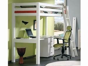 Lit 1 Place Mezzanine : lit mezzanine blanc id e deco pinterest 50 lit mezzanine and places ~ Melissatoandfro.com Idées de Décoration