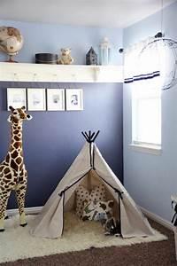 Wandfarbe Für Kinderzimmer : zeitgen ssische kinderzimmer farben wandfarbe blau ~ Lizthompson.info Haus und Dekorationen