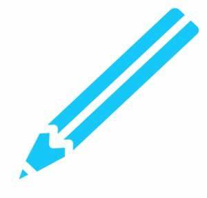 Pencil White Blue Clip Art at Clker.com - vector clip art ...