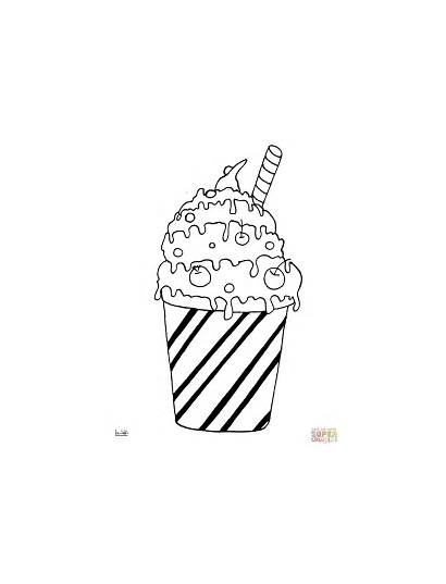 Coloring Pages Milk Cocktail Sheets Printable Ice