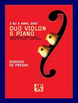 concours international de musique de chambre de lyon duo violon et piano