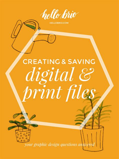 graphic design questions creating and saving digital and print files your graphics