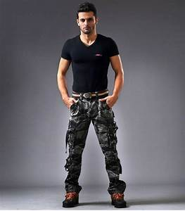 Top Design Fashion Men`s Army Style Trousers Camouflage Printed Baggy Military Cargo Pants For ...