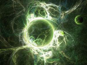 Green Planets in Space - Pics about space