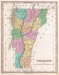 Vermont.: Geographicus Rare Antique Maps