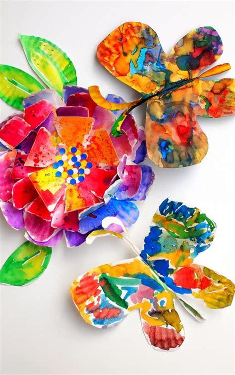 gorgeous fluttering paper plate butterflies art  kids