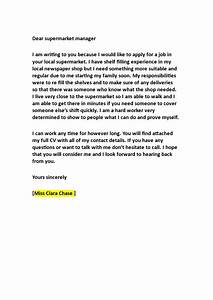 Application, Letter, To, Work, In, A, Supermarket