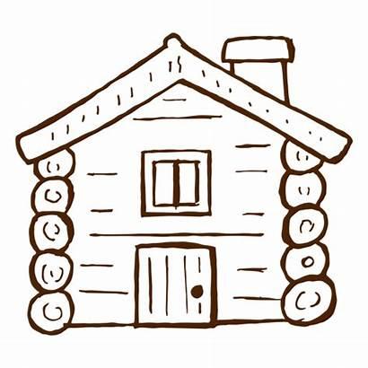 Cabin Log Drawn Icon Hand Wood Svg