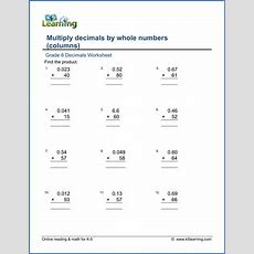 Grade 6 Multiplication Of Decimals Worksheets  Free & Printable  K5 Learning