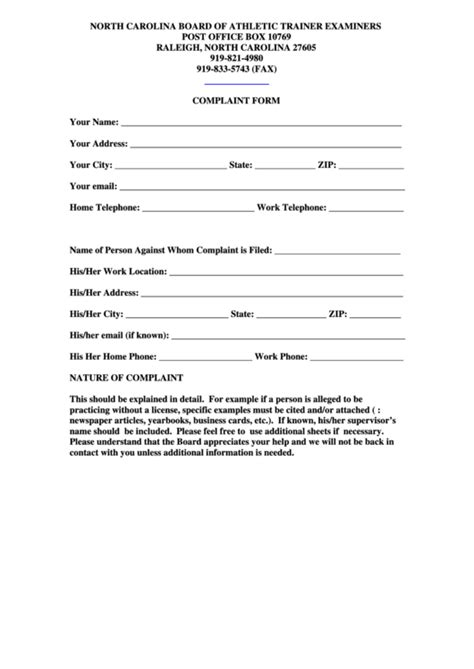 post office complaint form printable