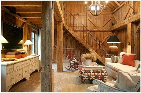 interior   pole barn living cool barns