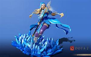 Rylai, the Crystal Maiden (3D art) - DOTA 2 Wallpapers
