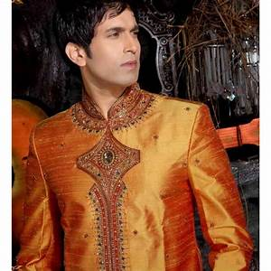 Tenue Indienne Homme : vente tenue de mari e indienne orange incrust de pierres ~ Teatrodelosmanantiales.com Idées de Décoration