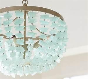 Enya sea glass chandelier pottery barn