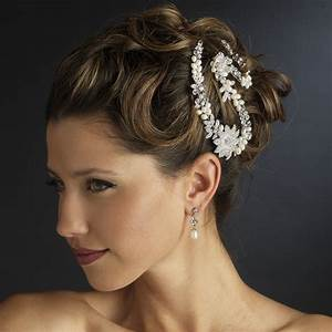 Freshwater Pearl Rhinestone Bridal Headpiece Clips