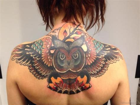 70 Brilliant Owl Tattoos For Back