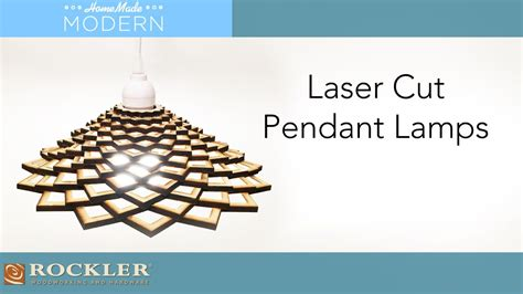 laser cut pendant lamp project homemademodern youtube