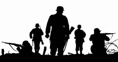 War Transparent Silhouette Clipart Clip Soldier Battle