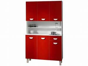 buffet de cuisine rouge conforama With meuble de cuisine a conforama