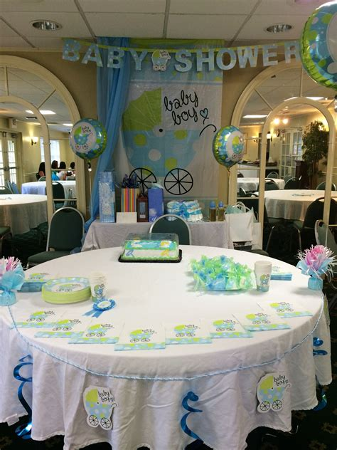 Decorating Ideas For Baby Shower Boy by Dollar Store Baby Shower Decoration For A Boy Ideas