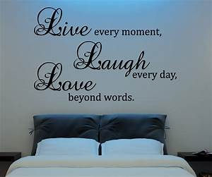 live laugh love wall decal vinyl sticker quote art living With wall decals quotes