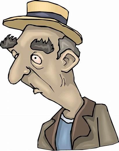 Clipart Hat Guy Wearing Older Cartoon Clip