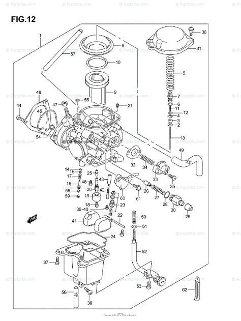 Suzuki Atv Oem Parts Diagram For Carburetor