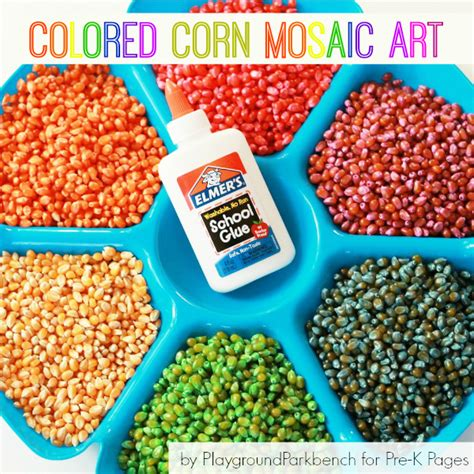 colored corn colored corn mosaic pre k pages