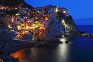 Manarola Cinque Terre Italy at Night
