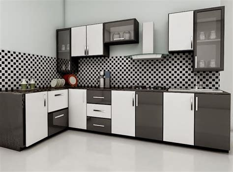 Kerala Style Kitchen Design With Unique Wall Cabinet Using
