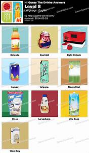 Hi Guess The Drinks Level 8 - Game Solver