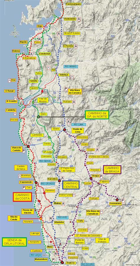 camino maps great camino portugues resource downloadable maps and