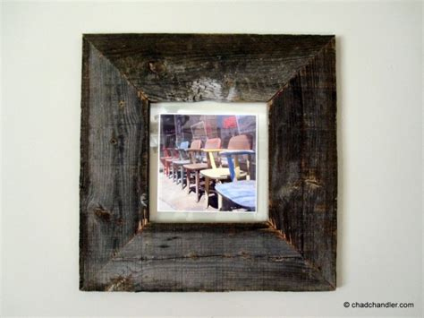 how to make barn wood picture frames diy barn wood picture frames chad chandler