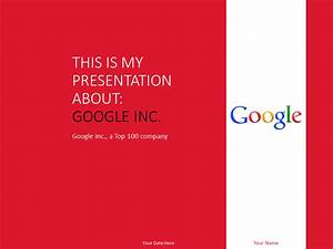 google doc powerpoint templates - google inc powerpoint template red