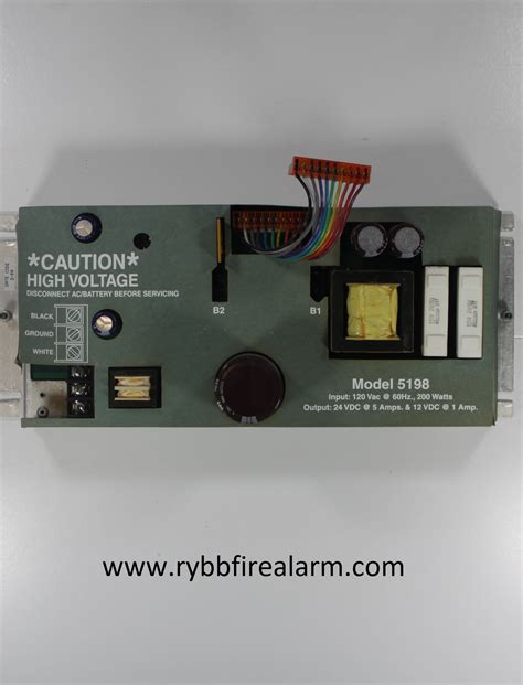 Silent Knight Sk5198 Power Supply  Rybb Fire Alarm Parts
