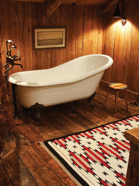 cottages in bath with tub 10 cozy cabin chic spaces we re swooning hgtv s