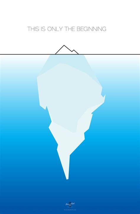 clipart iceberg tip of the iceberg poster id design