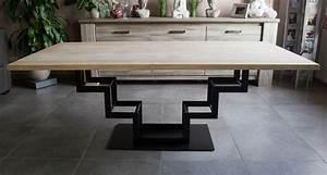 Table Haute En Bois : table haute en bois acier jeliodesign ~ Dailycaller-alerts.com Idées de Décoration