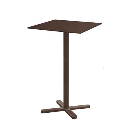table haute pliante table haute de bar pliante darwin en acier brun indien 70x70x105 cm emu