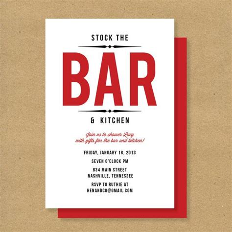 what is a stock the bar shower bridal shower invitation stock the bar kitchen by henandco
