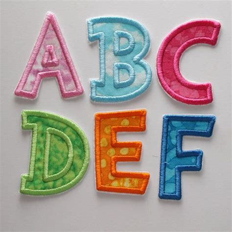 alphabet iron  letters colorful alphabet abc iron  letters embroidered letters