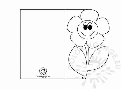 Coloring Card Mothers Pages Mother Cards Printable