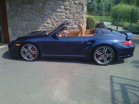 purchase   porsche  turdo cabriolet dark blue