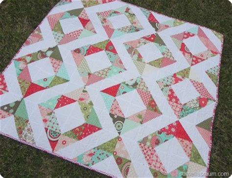 quilts    pre cut fabric seams